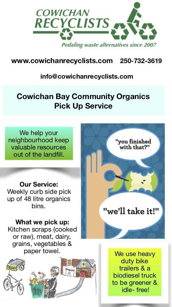 Cowichan Bay Organics Pick Up Service